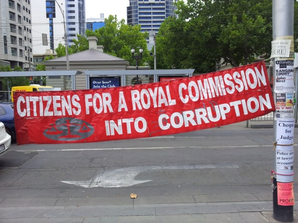 A protest and petition signing outside Federal court in Melbourne, Strike a chord for anyone?