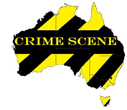 australia map crime scene