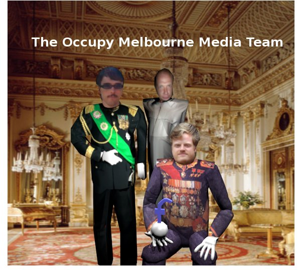 OM dictatorship class of 2013- a portrait series. (L-R) Nick Carson, Teigan Evans, Carl Scrace (seated)