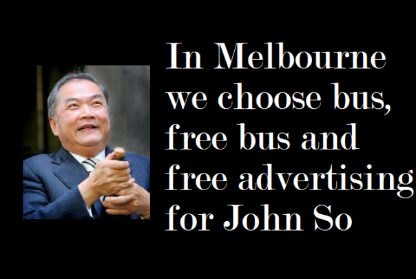 Free bus: great pork barrel politics.P.S. John So: MCC money is not for your own campaign funds, remember that if there is a next time.