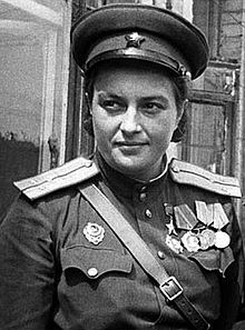 Lyudmila Mikhailivna Pavlichenko, One of 2000 female Russian Snipers of WW2. She was credited with 309 kills.