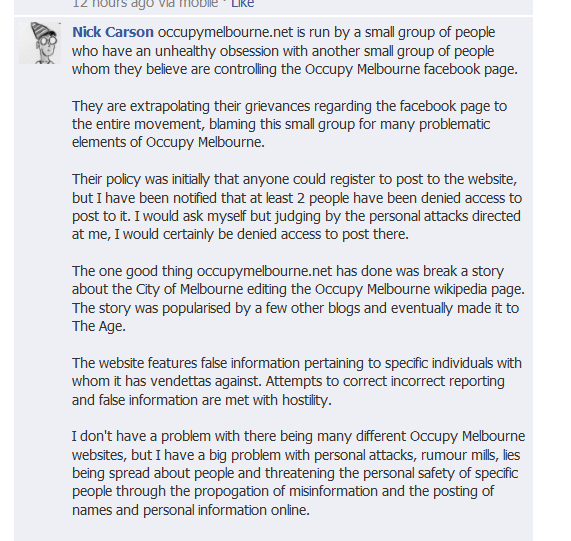 Nick Carson Lies again, Where is the false information Nick? Where is the hostility to correcting information? What you call personal attacks most other people consider to be the truth about you and its comming out. Keep digging that hole Nick is only getting worse for you. A little boy telling big lies.