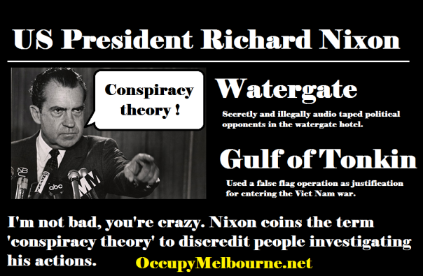 "Richard Nixon former president of the USA. ""I'm not a crook!""  Yeah right, mate."