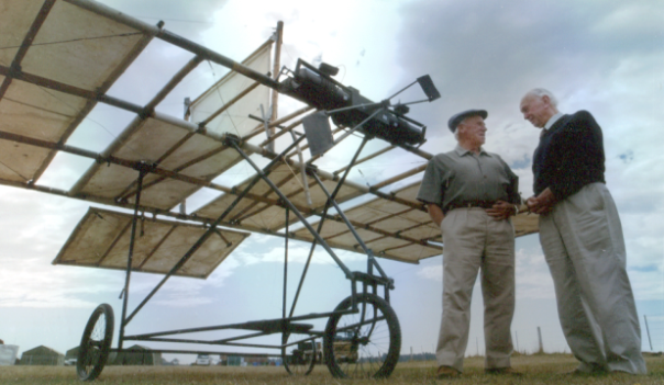 A modern replica of one of the first aeroplanes, Richard Pearce's invention