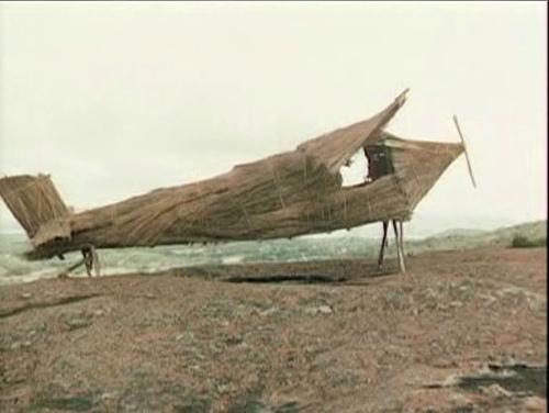 A cargo cult aeroplane.