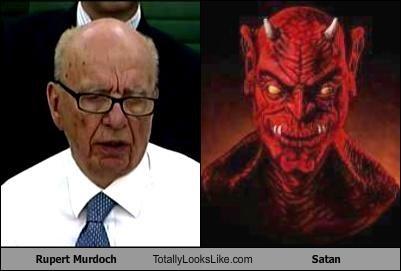 Rupert Murdock and Satan