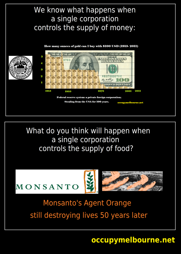 Monsanto food supply tagged