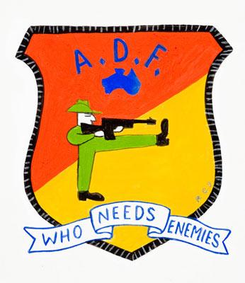 adf mock emblem