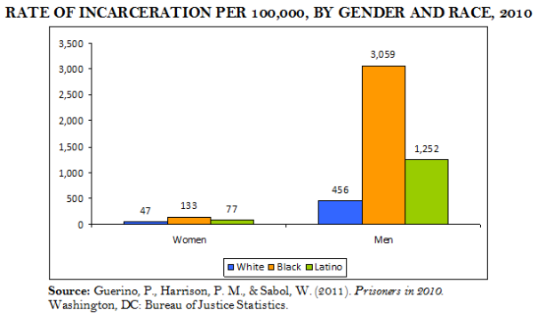 Incarceration Rate by Gender and Race PNG
