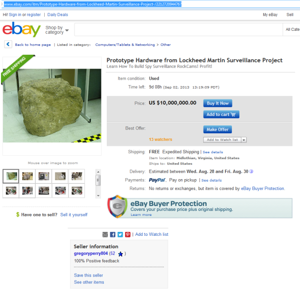 Get screwed in business? no problem, sell it on Ebay!
