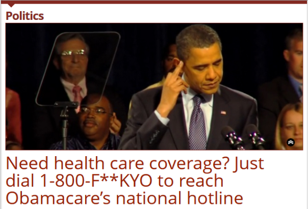 This the actual Obamacare phone number, what an epitaph to Obama and his attitude to the American people.