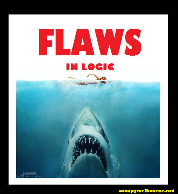 flaws in logic sharks tagged