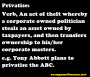 What does privatise mean?