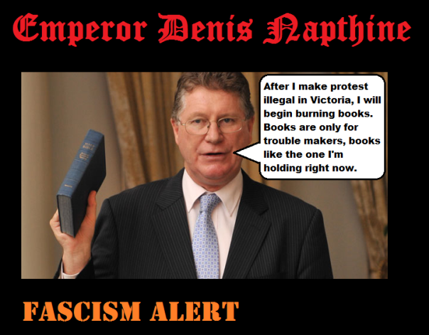 Denis_Napthine book burning