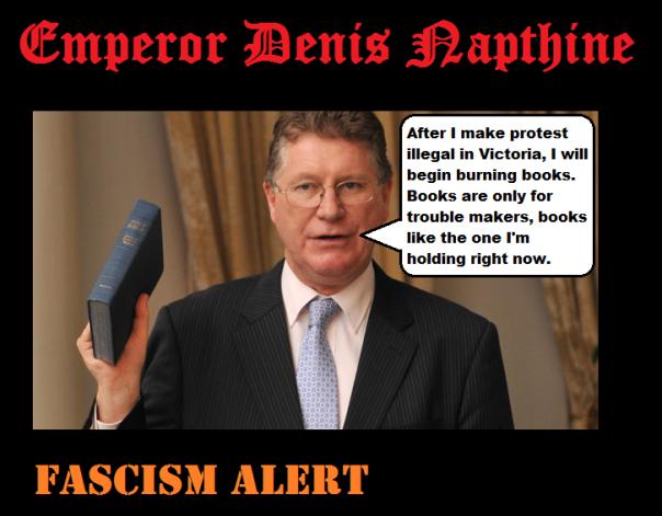 Denis_Napthine book burning