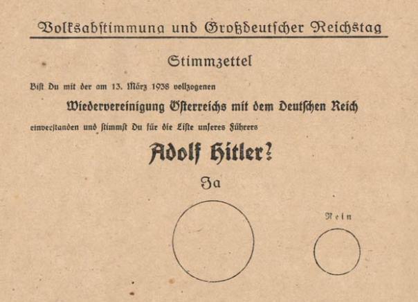 Nazi-ballot