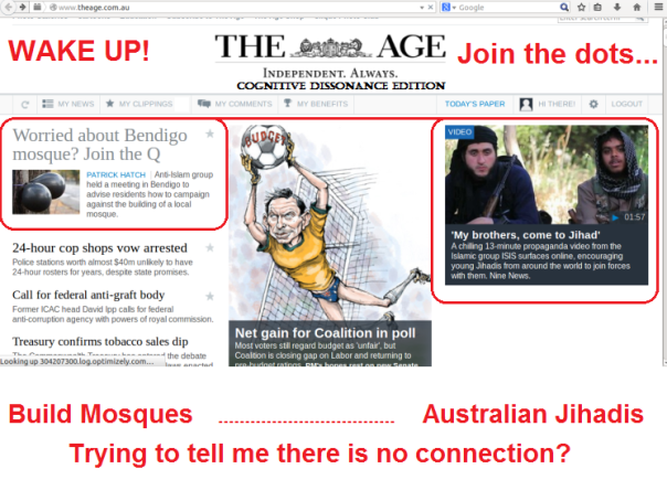 The Age Website front page on  June 23 2014. Do they even pay attention to he news they are publishing?