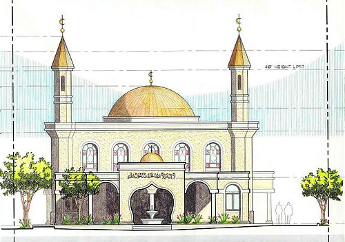 Plan Elevation Section Of Mosque : Mega mosques planned for balwyn toorak caulfield vic