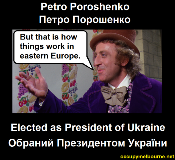 Petro Prorshenko; Ukraine's Chocolate and sweets Billionaire is elected president of Ukraine.