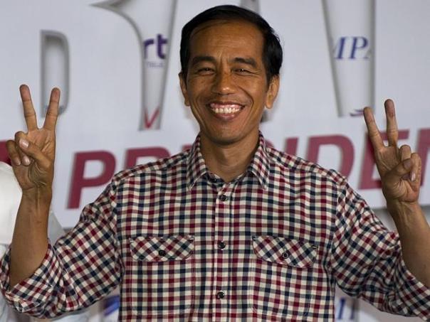 Joko widodo peace sign nixonesque