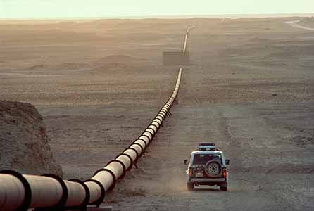 It hardly looks all that significant , but your quality of life literally flows through this steel pipe. Who controls these pipes ane where they are built or destroyed are what most wars in the last 100 years have been about.