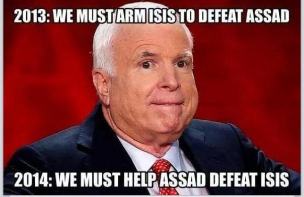McCain on policy changes.