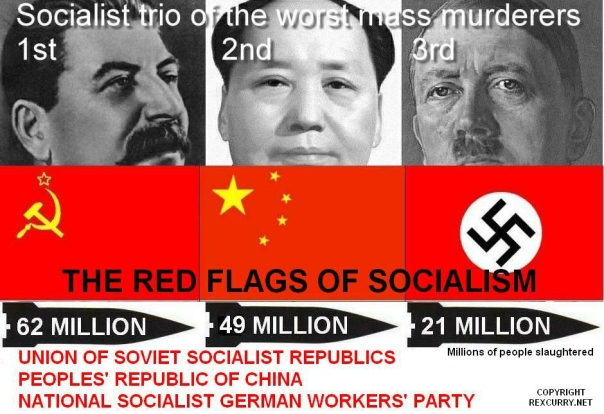 Socialism and the death toll.