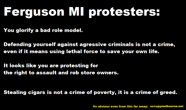 Ferguson MI protest riots tagged