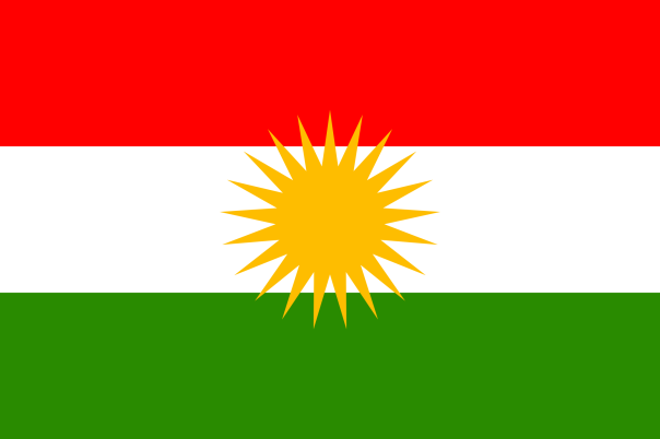 National flag of Kurdistan used since at least 2013.