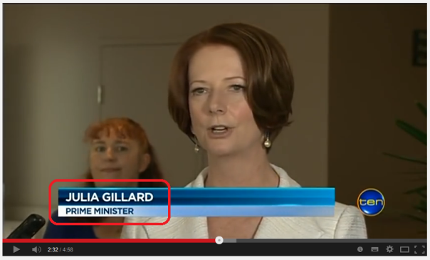 gillard as PM at the time