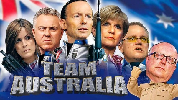 Team Australia Meme run by the SMH (Sydney Morning Herald) more or less what I would have done with the comment 'Team Australia'.