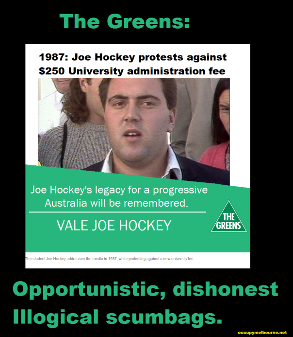 Joe Hockey progressive champion of students.