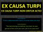 Legal concept: Ex causaturpi