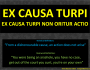 Legal concept: Ex causa turpi