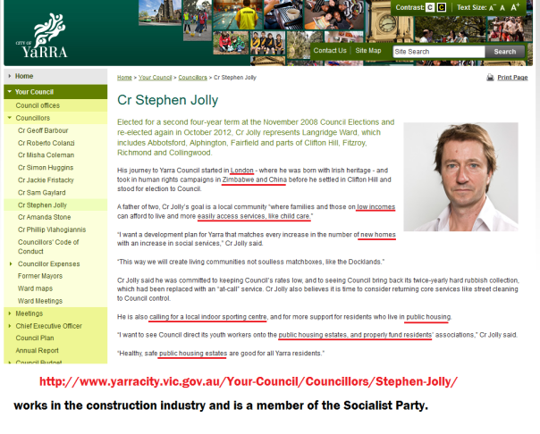 Stephen Jolly and his agenda.
