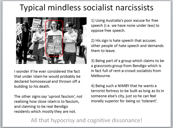 typical mindless socialist narcissists